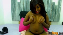 Barely legal black yummy girl ready to satisfy your dreams