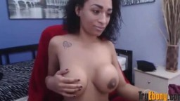 Gorgeous black sweet young girl with big breasts