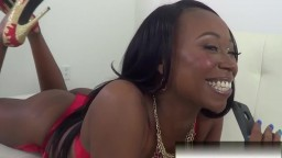 Loud moaning black housewife with hot ass fucks white cock