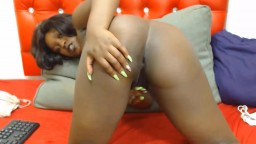 African babe with big titties gets pounded hairy pussy