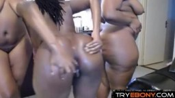 Kinky amateur black busty booty threesome fantasies